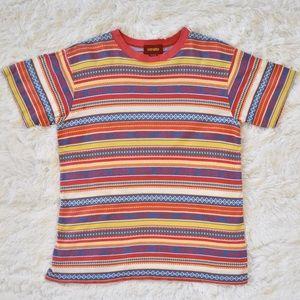 Kenzo Tribal Aztec Stripe Print Boyfriend T-Shirt